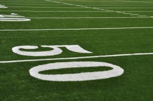 super bowl 50 yard line football field